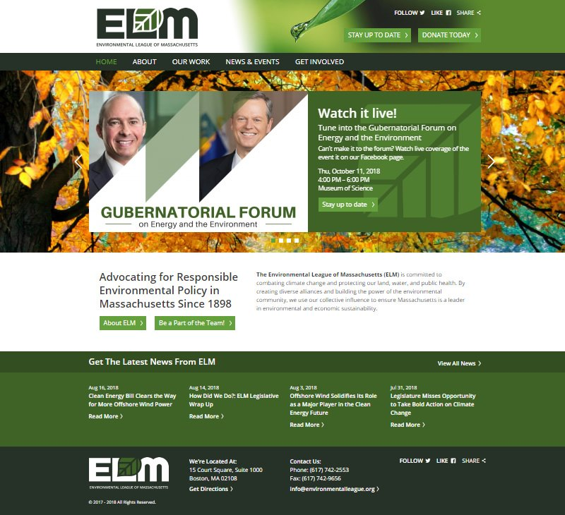 cdeVision Environmental League of Massachusetts ELM