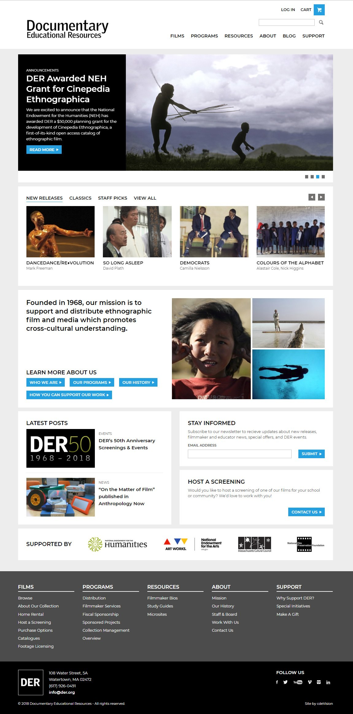 Site by cdeVision - Documentary Educational Resources (DER)
